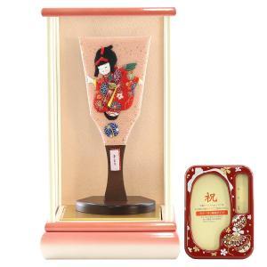 羽子板 お祝い 初正月 わらべ羽子板 手まり 白ピンク塗りケース飾り オルゴール写真立て付き|marutomi-a