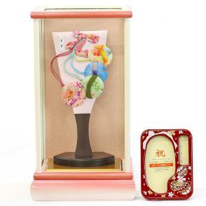 羽子板 お祝い 初正月 姫羽子板 すず  白ピンク塗りケース飾り オルゴール写真立て付き|marutomi-a