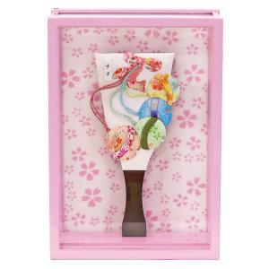羽子板 お祝い 初正月 壁掛け 額飾り 姫羽子板 すず ピンク塗り アクリルケース marutomi-a