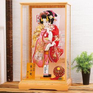 羽子板 お祝い 初正月 平安豊久 18号 京小町 ガラスケース飾り|marutomi-a