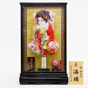 羽子板 お祝い 初正月 東玉 13号 美月 桃山ケース飾り|marutomi-a