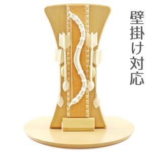破魔弓 壁掛け 木製・ちりめん インテリア破魔弓 白紐 半円形敷板セット 初正月 破魔矢|marutomi-a