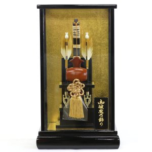 破魔弓 コンパクト リュウコドウ 小槌 黒塗りケース飾り 初正月 破魔矢|marutomi-a