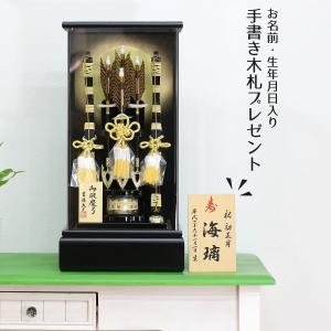 破魔弓 コンパクト 吉徳 11号 黒塗りアクリルケース飾り ミニ 初正月 破魔矢|marutomi-a