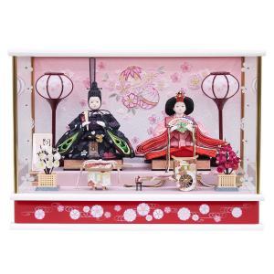 雛人形 コンパクト ケース入り 衣装着 小三五親王 オルゴール付 ケース飾り|marutomi-a