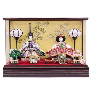 雛人形 コンパクト ケース入り 衣装着 小三五親王 オルゴール付 アクリルケース飾り|marutomi-a