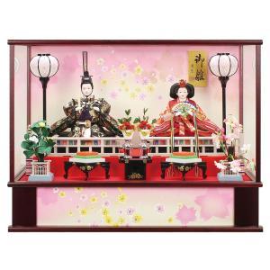 雛人形 コンパクト ケース入り 衣装着 三五親王 オルゴール付 ケース飾り|marutomi-a
