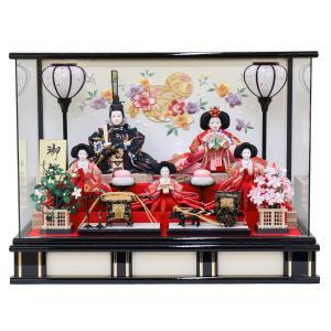 雛人形 コンパクト ケース入り 衣装着 小三五親王 五人官女 五人揃い オルゴール付 ケース飾り|marutomi-a