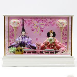 雛人形 コンパクト ケース入り 小三五親王 ガラスケース飾り marutomi-a