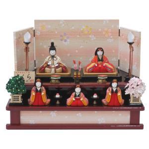 雛人形 大里彩作 木目込み雛人形 さくら 五人飾り...