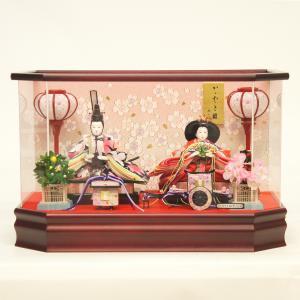 雛人形 コンパクト ケース入り 藤翁 乙葉 芥子親王飾り アクリルケース飾り オルゴール付き marutomi-a