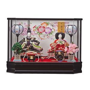 雛人形 コンパクト ケース入り 藤翁 彩美  三五親王飾り アクリルケース飾り marutomi-a
