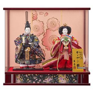 雛人形 コンパクト ケース入り 藤翁 美月 立雛 三五親王飾り  オルゴール付き アクリルケース|marutomi-a