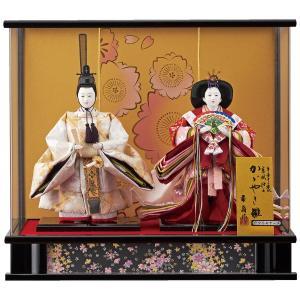 雛人形 コンパクト ケース入り 藤翁 羽月 立雛 三五親王飾り  オルゴール付き アクリルケース|marutomi-a
