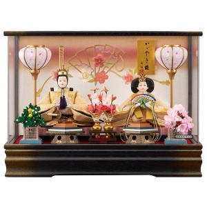 雛人形 コンパクト ケース入り 藤翁 羽衣 刺繍仕立て 三五親王飾り (G) オルゴール付き アクリルケース|marutomi-a