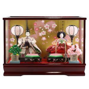 雛人形 コンパクト ケース入り 藤翁 紗季 小三五親王飾り  ケース飾り オルゴール付き|marutomi-a