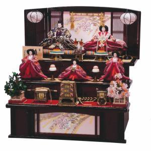 雛人形 三段 3段 平安豊久 美貴 九番親王 大三五官女揃い 五人 三段飾り marutomi-a
