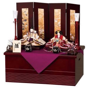 雛人形 コンパクト 収納 平安豊久 ひまり 芥子親王飾り 収納飾り|marutomi-a