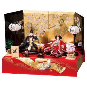 雛人形 コンパクト 収納 平安豊久 鶴に宝尽くし 京十番親王飾り 収納飾り marutomi-a