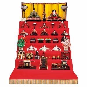 雛人形 七段 7段 平安豊久 清水久遊作 東山 京六番親王 京七寸 十三人揃い 十五人 七段飾り marutomi-a