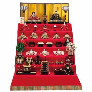 雛人形 七段 7段 平安豊久 五世雛幸作 極上有職 京七番親王 京七寸 十三人揃い 十五人 七段飾り marutomi-a