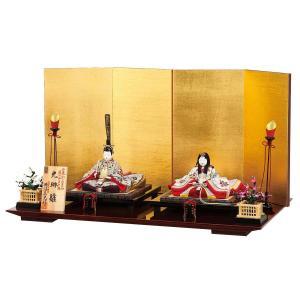 雛人形 コンパクト 木目込み 平安豊久 柿沼東光作 光琳 親王飾り 木目込み飾り|marutomi-a