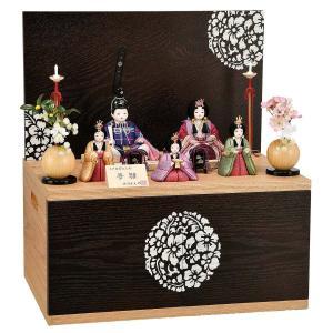 雛人形 コンパクト 木目込み 平安豊久 柿沼東光作 夢雛 五人 木目込み飾り|marutomi-a