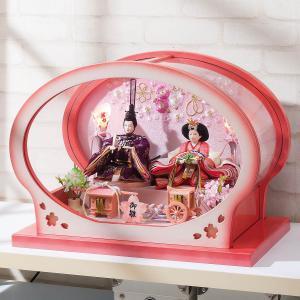 雛人形 コンパクト ケース入り 平安豊久 楓 小芥子 親王 アクリルケース飾り marutomi-a