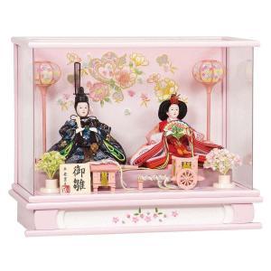 雛人形 コンパクト ケース入り 平安豊久 蘭 小三五 親王 アクリルケース飾り marutomi-a