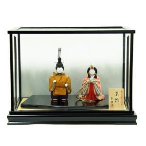 雛人形 コンパクト 木目込み 原孝洲作 東宮雛 木目込み雛人形 立雛飾り ケース入り|marutomi-a