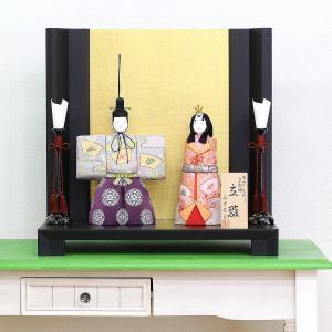 雛人形 コンパクト 木目込み 真多呂作 木目込み雛人形 洛陽立雛セット|marutomi-a