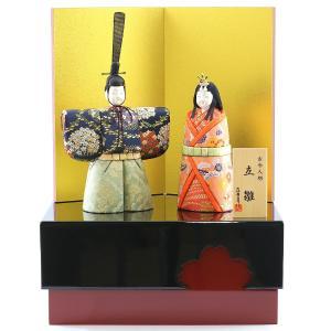 雛人形 コンパクト 木目込み 真多呂作 木目込み雛人形 彩明立雛セット 収納飾り|marutomi-a