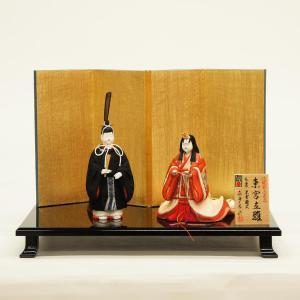 雛人形 コンパクト 木目込み 真多呂作 木目込み雛人形 伝統的工芸産業品 東宮立雛セット 黒雲鶴 marutomi-a