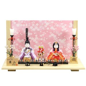雛人形 コンパクト 木目込み 真多呂作 木目込み雛人形 東山雛セット|marutomi-a