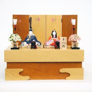 雛人形 コンパクト 木目込み 真多呂作 木目込み雛人形 秀明雛セット|marutomi-a