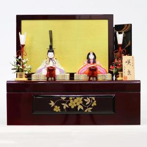雛人形 コンパクト 木目込み 真多呂作 木目込み雛人形 咲良セット 収納飾り marutomi-a