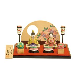 雛人形 コンパクト 木製 南雲工房 伊予一刀彫 おぼろ月|marutomi-a