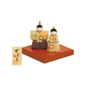 雛人形 コンパクト 木製 南雲工房 伊予一刀彫 かほり|marutomi-a