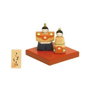 雛人形 コンパクト 木製 南雲工房 伊予一刀彫 こはる|marutomi-a
