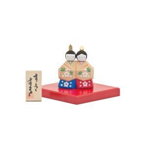 雛人形 コンパクト 木製 南雲工房 伊予一刀彫 すきすき|marutomi-a