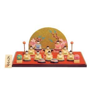 雛人形 コンパクト 木製 南雲工房 伊予一刀彫 花の宴|marutomi-a