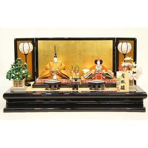 雛人形 大橋弌峰作 雛人形 京九番親王飾り 黄呂染|marutomi-a
