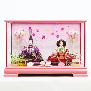 雛人形 コンパクト ケース入り 久月 ケース飾り 親王飾り 三五親王 ガラスケース marutomi-a
