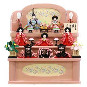 雛人形 三段 収納 3段 久月 収納三段飾り 小芥子親王 小芥子官女 五人飾り|marutomi-a