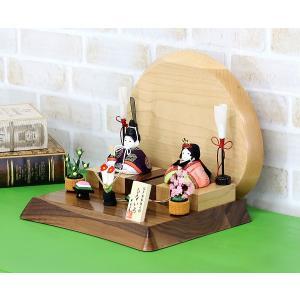 雛人形 コンパクト 木目込み 東玉工房 ひないろ 正絹 一重梅 木目込み 親王飾り 高級木材使用台屏風|marutomi-a
