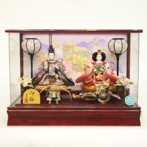 雛人形 吉徳 ケース入り 小三五親王飾り 「御雛」 アクリルケース オルゴール付