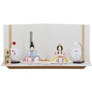 雛人形 コンパクト 木目込み 吉徳 吉徳大光 木目込親王飾り 柿沼東沼作 吉祥雛|marutomi-a