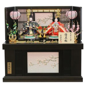 雛人形 コンパクト 収納 吉徳 吉徳大光 三五親王 収納飾り 優美桜|marutomi-a