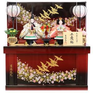 雛人形 コンパクト 収納 吉徳 吉徳大光 小三五親王 収納飾り 千歳桜|marutomi-a