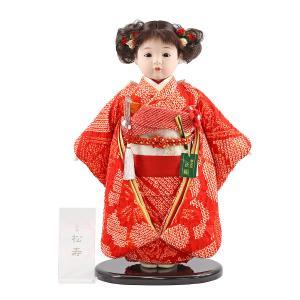 松寿作 市松人形 特選友禅 正絹 絞り|marutomi-a